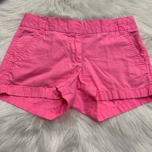 J Crew pink shorts broken in chino size 0